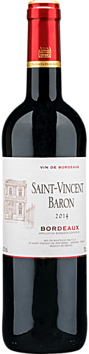 2014 Saint-Vincent Baron Bordeaux